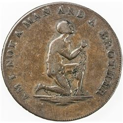 GREAT BRITAIN: AE halfpenny token (9.11g), ND [ca. 1795]. F