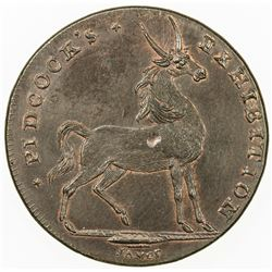 GREAT BRITAIN: AE halfpenny token (6.67g), ND [ca. 1801]. UNC