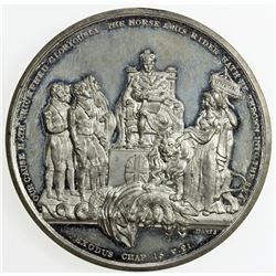 GREAT BRITAIN: William IV, 1830-1837, medal (46.05g), 1832. AU