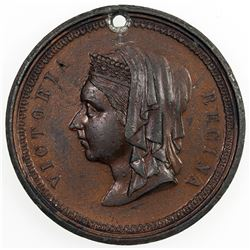 GREAT BRITAIN: Victoria, 1837-1901, AE medal (17.52g), 1887. EF