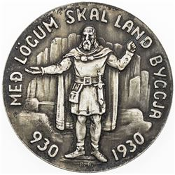 ICELAND: Christian X, 1912-1944, AR 5 kronur, 1930. AU