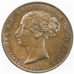 JERSEY: Victoria, 1837-1901, AE 1/26 shilling, 1841. UNC