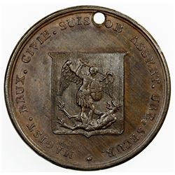NETHERLANDS: William I, 1815-1840, AE medal, 1815. AU