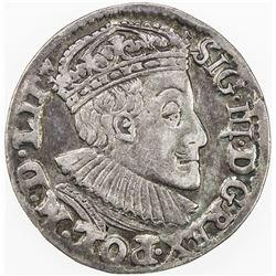 POLAND: Sigismund III, 1587-1632, AR 3 groschen (2.31g), 1589. VF