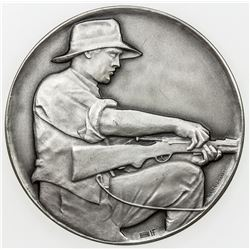 AARGAU: AR medal (50.58g), ND (1920-57). UNC