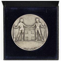 AARGAU: AE shooting medal (52.82g), 1924. AU