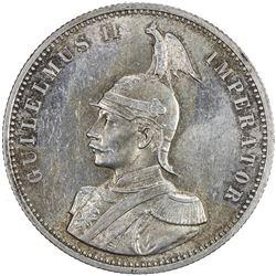 GERMAN EAST AFRICA: Wilhelm II, 1888-1918, AR rupie, 1890. AU