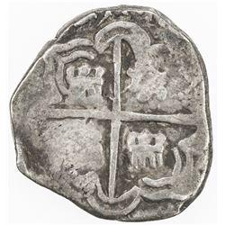 BOLIVIA: Felipe IV, 1621-1665, AR real cob (3.03g), DM [1636-44]-P. F