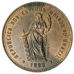 BRAZIL: Republic, AE 40 reis, 1889
