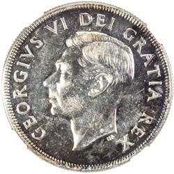 CANADA: George VI, 1936-1952, AR dollar, 1951