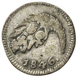 COLOMBIA: Nueva Granada, 1837-1850, AR 1/4 real, Popayan, 1846