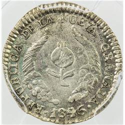 COLOMBIA: Nueva Granada, 1837-1850, AR 1/2 real, Popayan, 1846. PCGS AU53