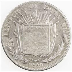 COSTA RICA: AR 50 centavos, 1880. VF
