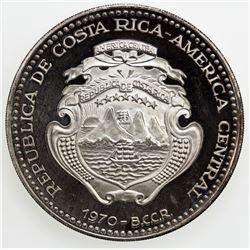 COSTA RICA: AR 20 colones, 1970, KM-193, Venus de Milo, Proof