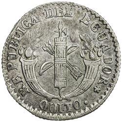 ECUADOR: Republic, AR 2 reales, Quito, 1836