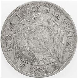 GUATEMALA: AR peso, 1894. EF
