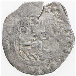 MEXICO: Felipe III, 1598-1621, AR real cob (2.97g), DM-Mo. VG