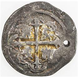 MEXICO: Felipe III, 1598-1621, AR real (3.22g), 1611-Mo. F