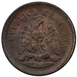 MEXICO: Republic, AE centavo, 1897-Mo. PCGS MS65