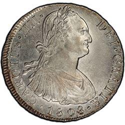 PERU: Carlos IV, 1788-1808, AR 8 reales, 1808-LIMAE. PCGS AU