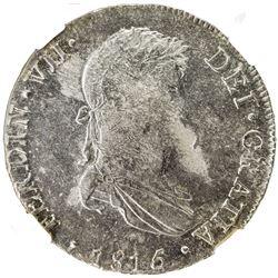 PERU: Fernando VII, 1808-1822, AR 8 reales, 1815-LIMA. NGC MS61