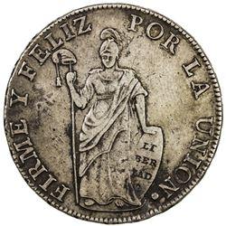 PERU: Republic, AR 8 reales, Cuzco, 1832