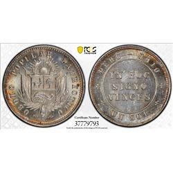 PERU: Republic, AR sol token, 1910. PCGS MS65