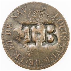 TOBAGO: AE 1 1/2 pence, ND (1798-1825). VF