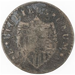 UNITED STATES COLONIAL: NEW JERSEY: AE cent, 1787. G-VG