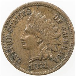 UNITED STATES:Indian Head Cent, 1874. VF