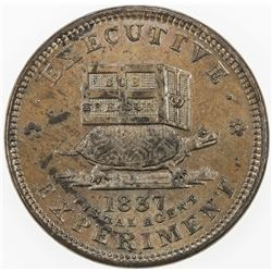 UNITED STATES: AE Hard Times Token (11.08g), 1837. AU