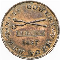 UNITED STATES:AE Hard Times Token, 1837. EF