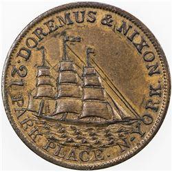 UNITED STATES:AE merchant token, ND [1850-53]. AU