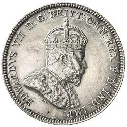 AUSTRALIA: Edward VII, 1901-1910, AR shilling, 1910. UNC