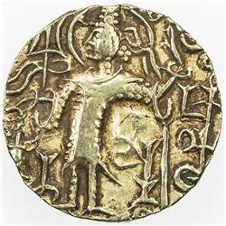 KUSHAN: Kapinada, ca. 350-370, AV dinar (7.63g). VF