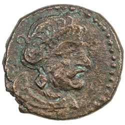 PARATA RAJAS: Spajhayama, ca. 50 BC to 50 AD, AE drachm (1.79g). VF