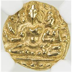 VIJAYANAGAR: Hari Hara, ca. 1377-1404, AV 1/2 pagoda. NGC MS64