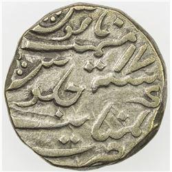 CAMBAY: Ja'far Ali Khan, 1880-1915, AR rupee, Kambayat, AH1313 year 17. VF