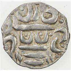 GARHWAL: Fath Shah, 1686-1717, AR timasha, year 2 (frozen). EF