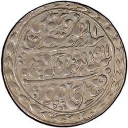 JAIPUR: Madho Singh II, 1880-1922, AR nazarana rupee, 1911 year 32. PCGS MS62