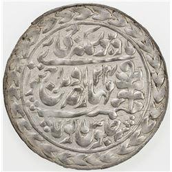 JAIPUR: Madho Singh II, 1880-1922, AR nazarana rupee, Sawai Jaipur, 1913 year 34. AU
