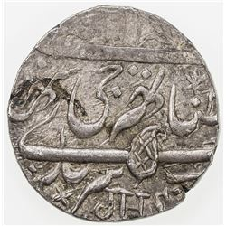 KASHMIR: AR rupee (6.95g), Srinagar, VS1929. EF