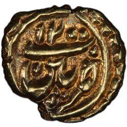 MYSORE: Tipu Sultan, 1782-1799, AV fanam (0.4g), Patan, AH1200. PCGS MS63