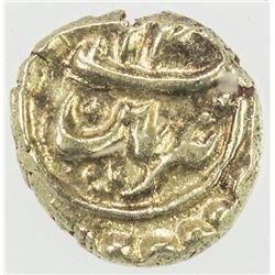 MYSORE: Tipu Sultan, 1782-1799, AV fanam (0.37g), Patan, AH12xx. PCGS MS63