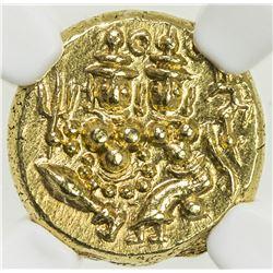 MYSORE: Krishna Raja Wodeyar, 1799-1868, AV pagoda. NGC MS66