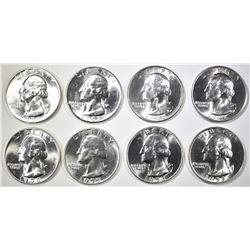 8 CH BU WASHINGTON QUARTERS MIXED 1945-58
