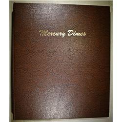 1941-45 SHORT SET MERCURY DIMES IN DANSCO ALBUM