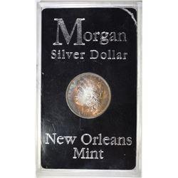 1885-O MORGAN DOLLAR CH BU TONED