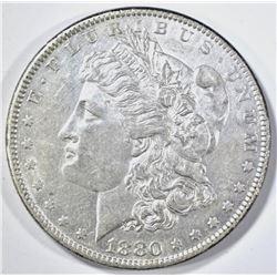 1880-O MORGAN DOLLAR AU