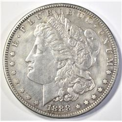 1888-S MORGAN DOLLAR AU CLEANED